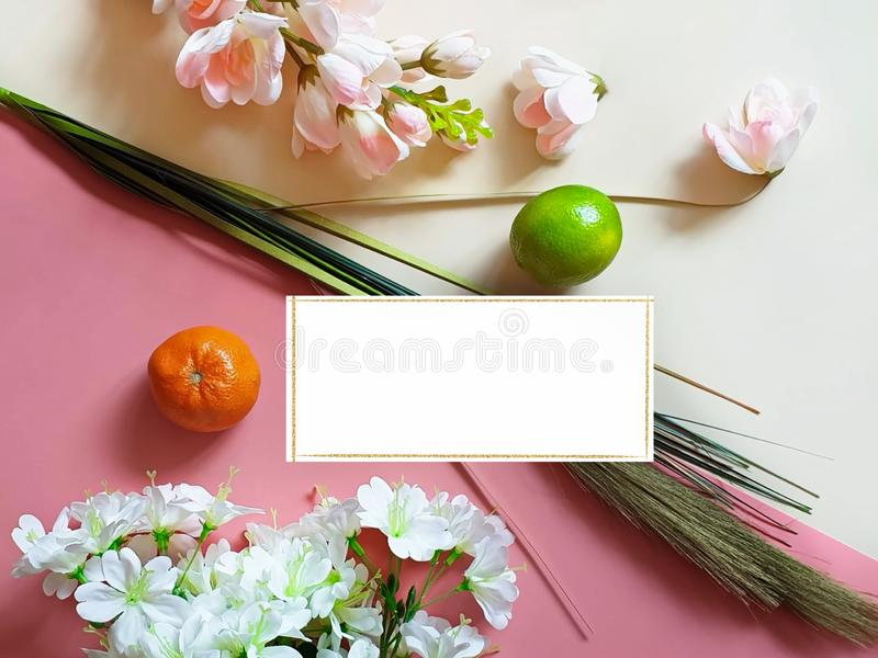 Spring Flowers Healthy lifestyle Fruits Apple Background concept still life vegan Eco food m royalty free stock images