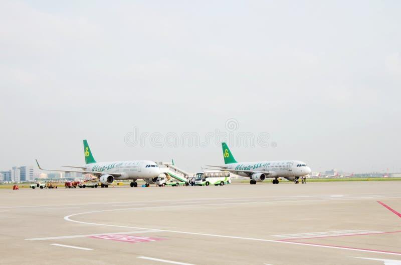 Spring Airlines lizenzfreies stockbild