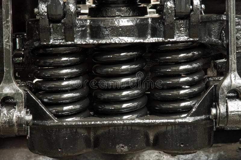 Spring Amortisation Mechanism Of Chassis Royalty Free Stock Photos