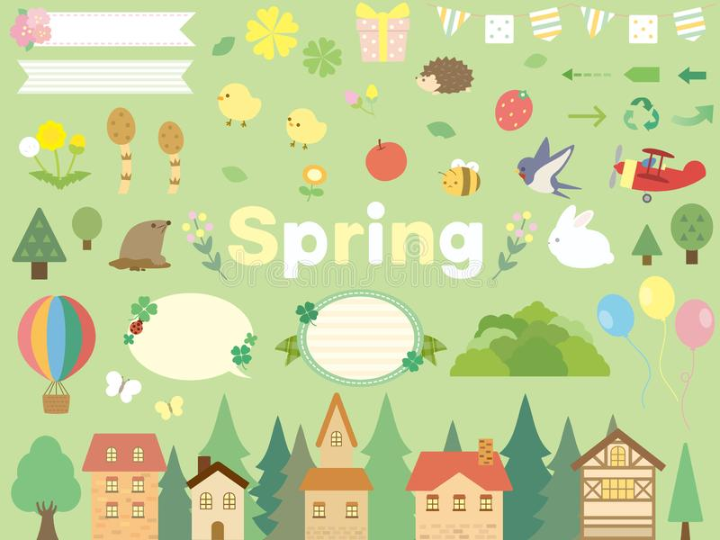 Spring set royalty free illustration