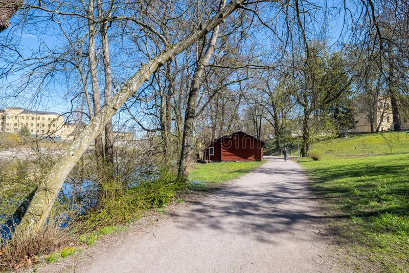 Spring in Norrköping, Sweden royalty free stock photography