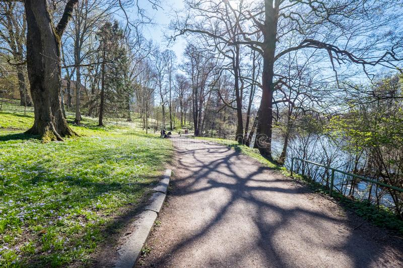 Spring atmosphere in Norrköping, Sweden stock photography