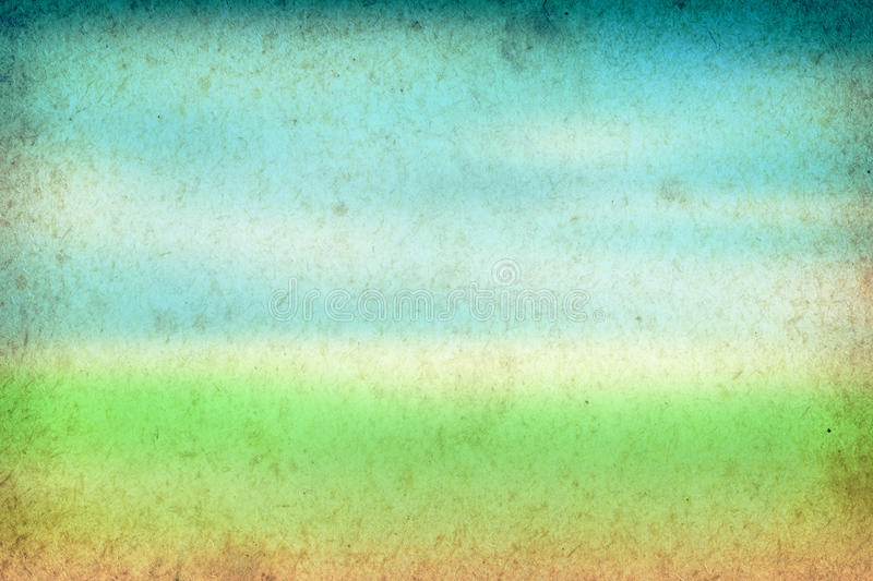Spring Background. Green and blue vintage paper texture stock photo