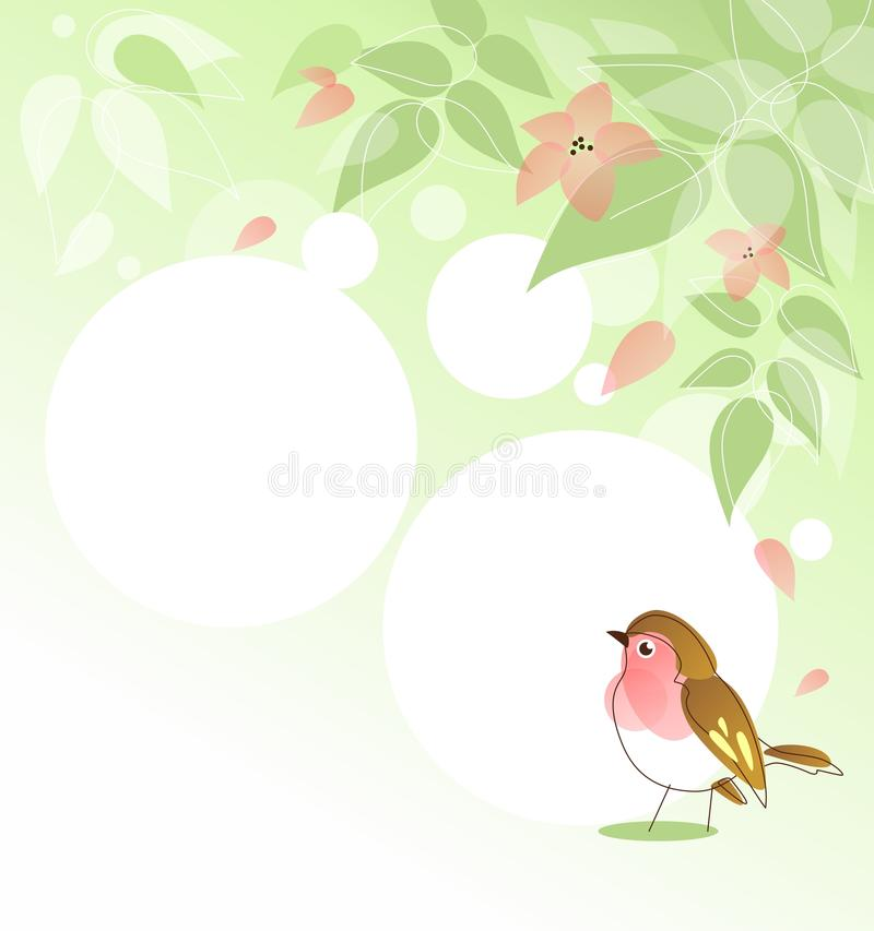 Download Spring Background With Bird Stock Vector - Image: 31921212