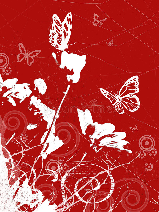 Spring background with butterflies. Spring floral background with butterflies royalty free illustration