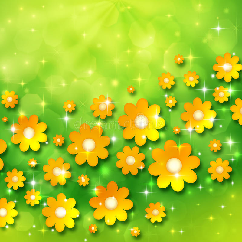 Download Spring Background With Chamomiles Stock Illustration - Image: 23465435