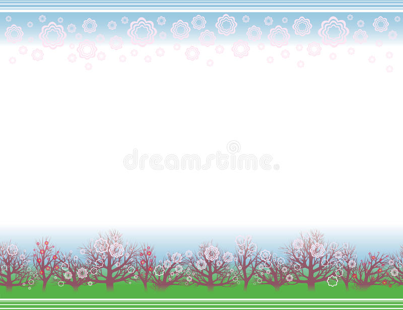 Spring Background With A Flowering Garden Royalty Free Stock Photos