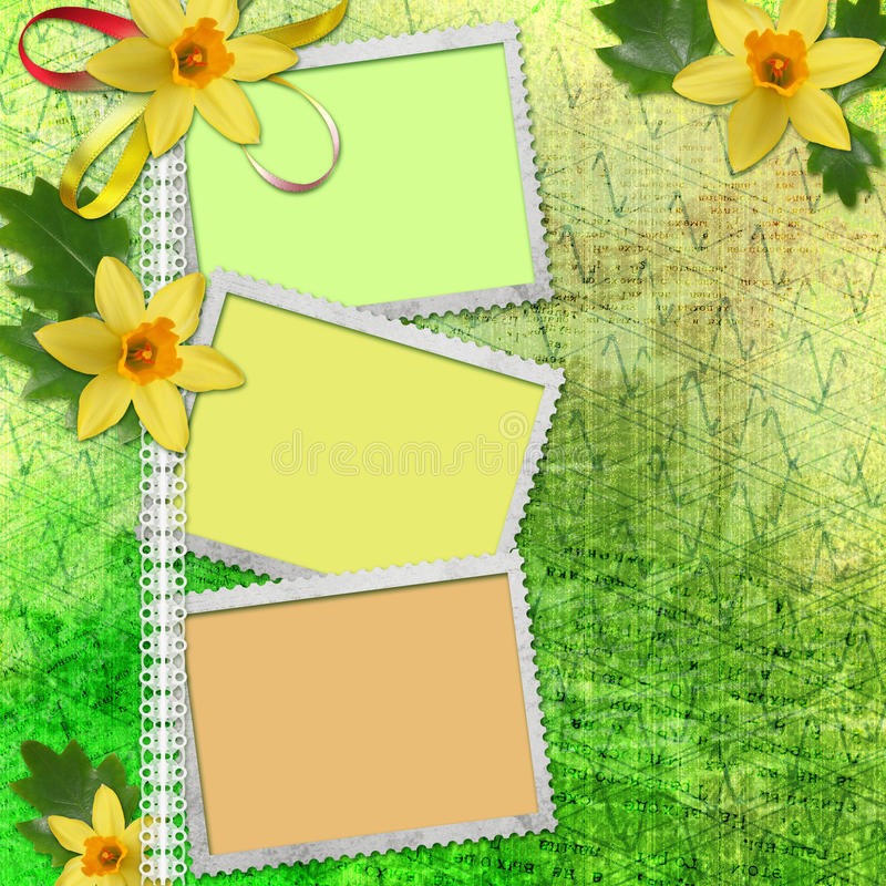 Download Spring Background With Frames Stock Illustration - Image: 23175233