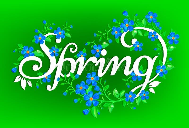 Spring background. vector illustration