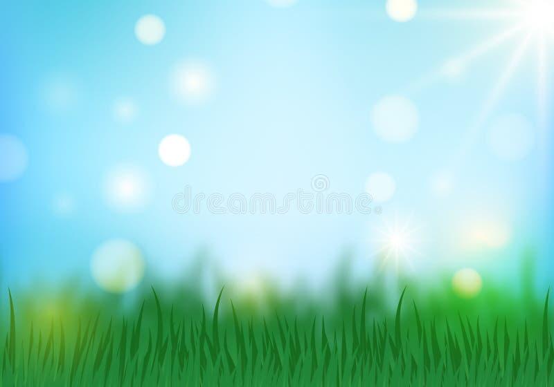 Spring background horizontal royalty free illustration