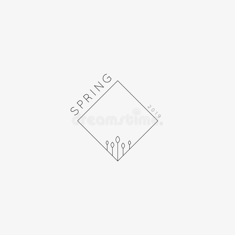 Spring 2019 background. Illustration of Spring 2019 background. minimal Textures and backgrounds. Flowers royalty free illustration