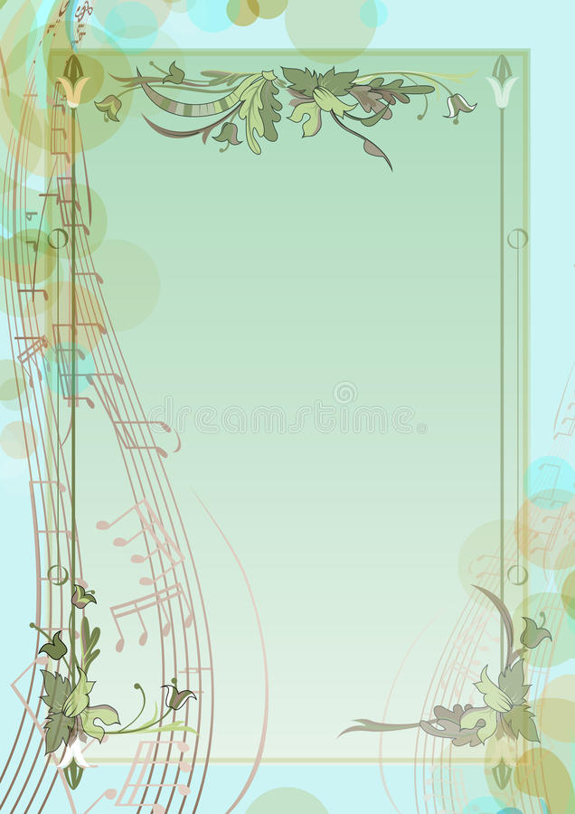 Spring background with notes royalty free illustration