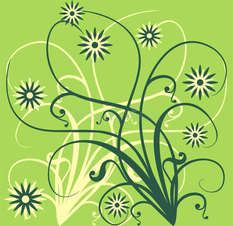 Spring background, vector vector illustration