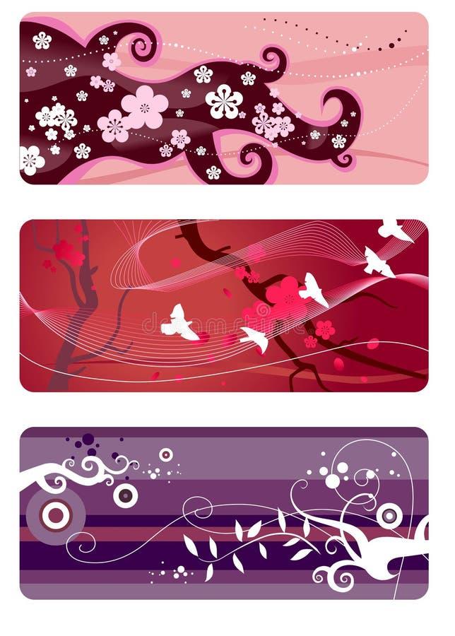 Spring backgrounds set royalty free illustration