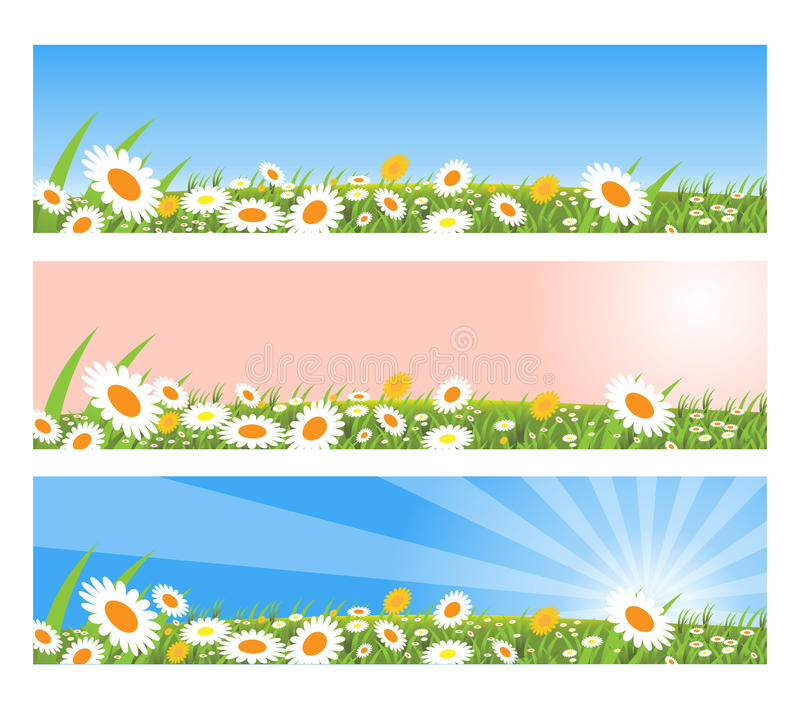 Download Spring banners stock vector. Image of bright, flowers - 12917376