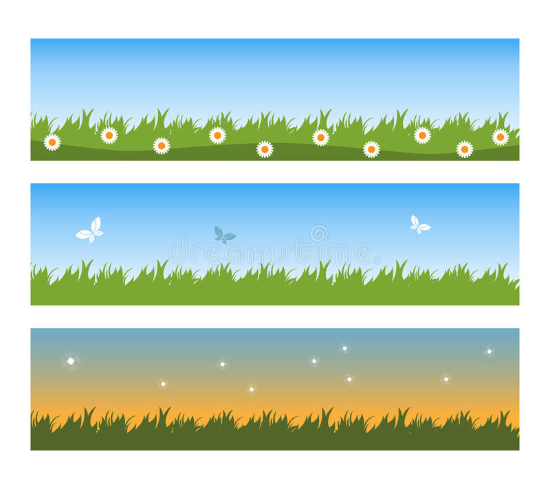 Download Spring banners stock vector. Image of grass, banners - 13743865
