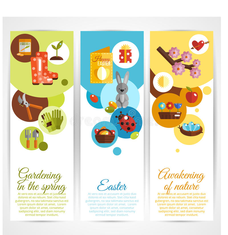 Spring Banners Vertical royalty free illustration