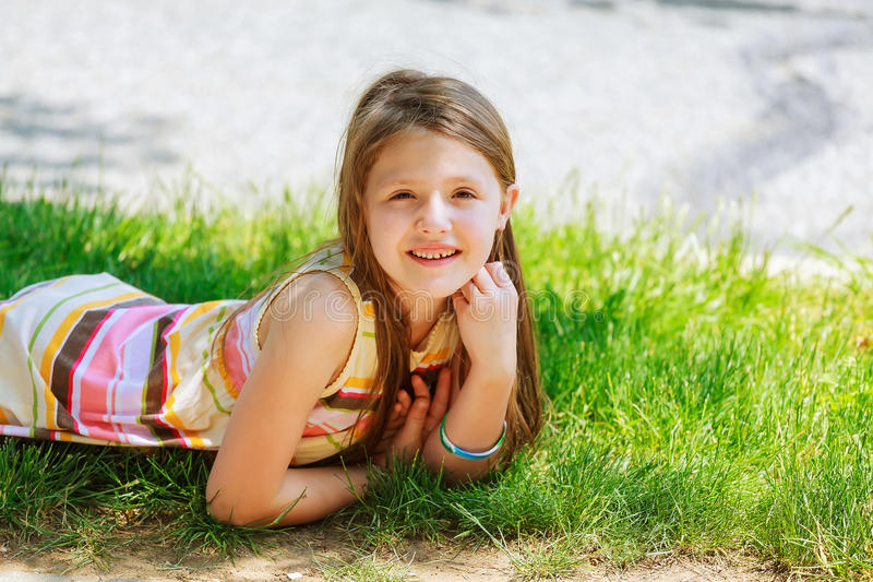spring beautiful little girl teen stock image image of