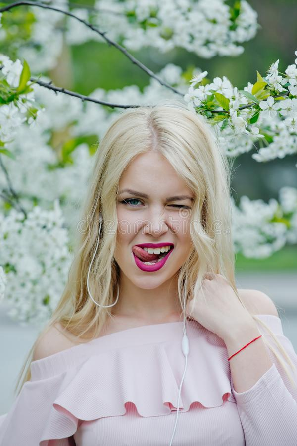 Spring and beauty, youth, mp3. stock photography