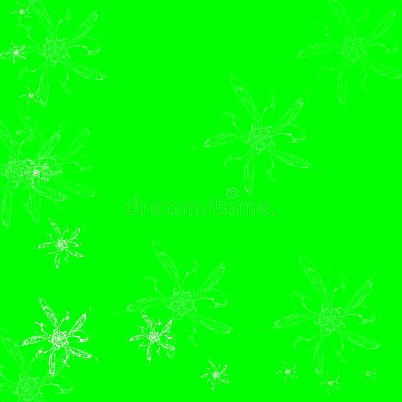 Spring bloemen op groene achtergrond op vector illustratie