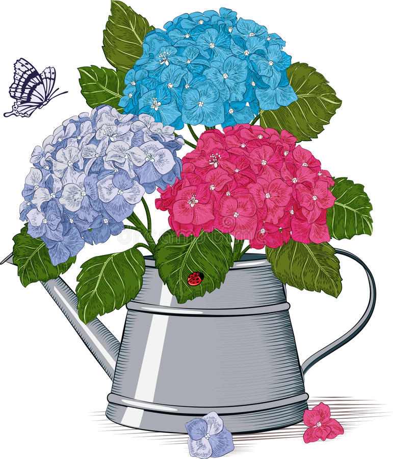 Spring bouquet vector illustration
