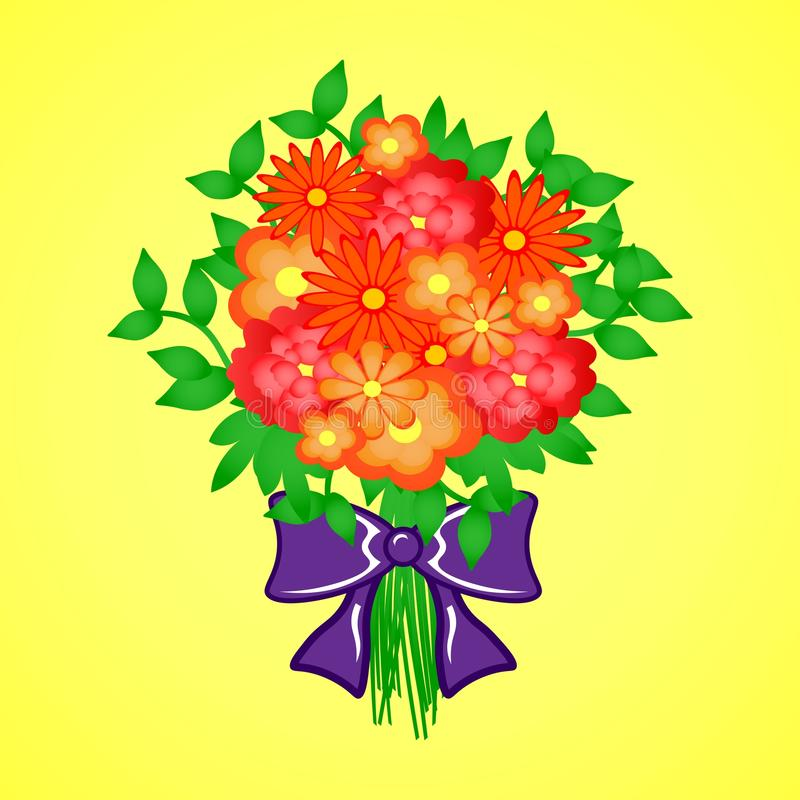 Download Spring bouquet of flowers stock illustration. Image of bloom - 83712114