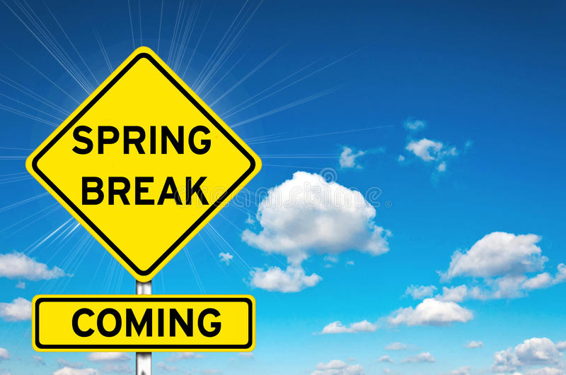 Spring break coming royalty free stock photography
