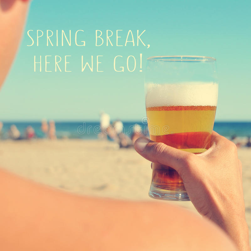 Spring break, here we go stock images