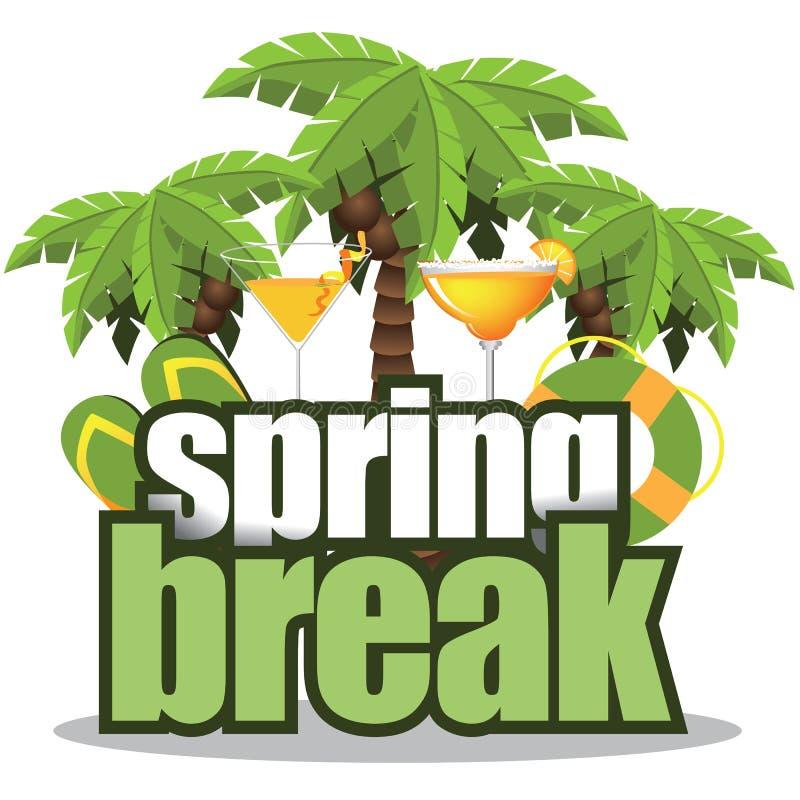 Spring break palm trees isolated. EPS 10 vector stock illustration stock illustration