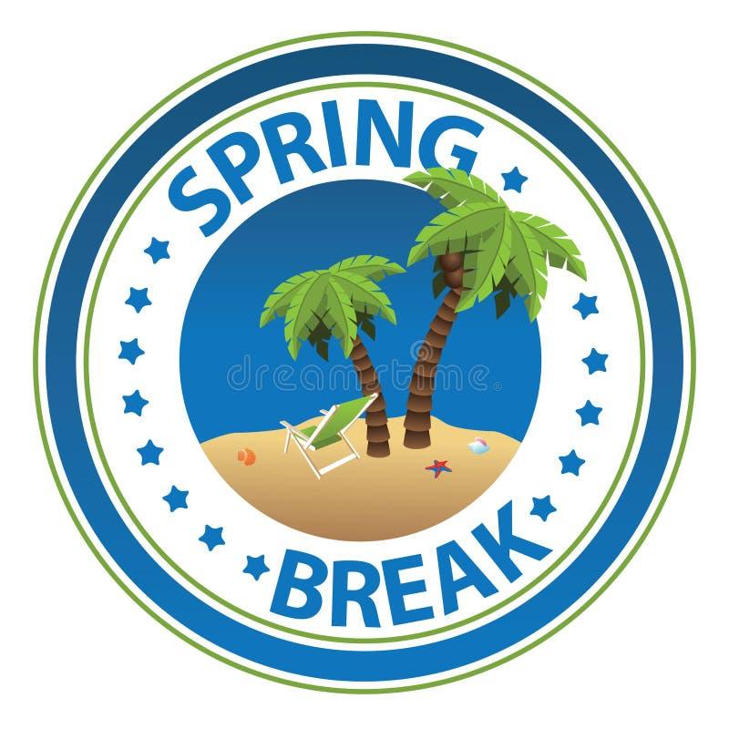 Spring Break stamp royalty free illustration