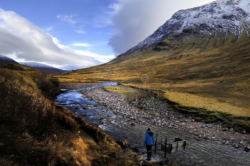 Spring at Buachille Etive Moor stock images