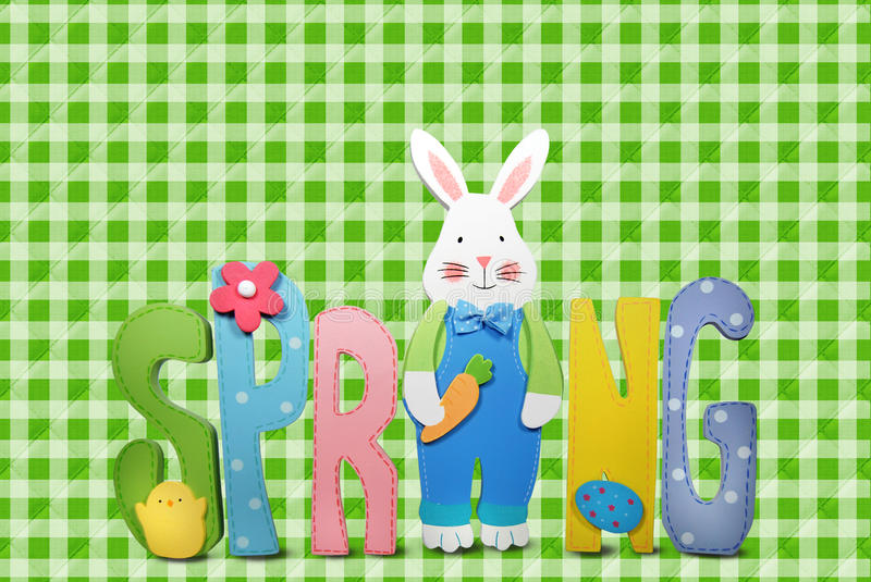 Download Spring bunny stock illustration. Image of sign, bold - 23247193