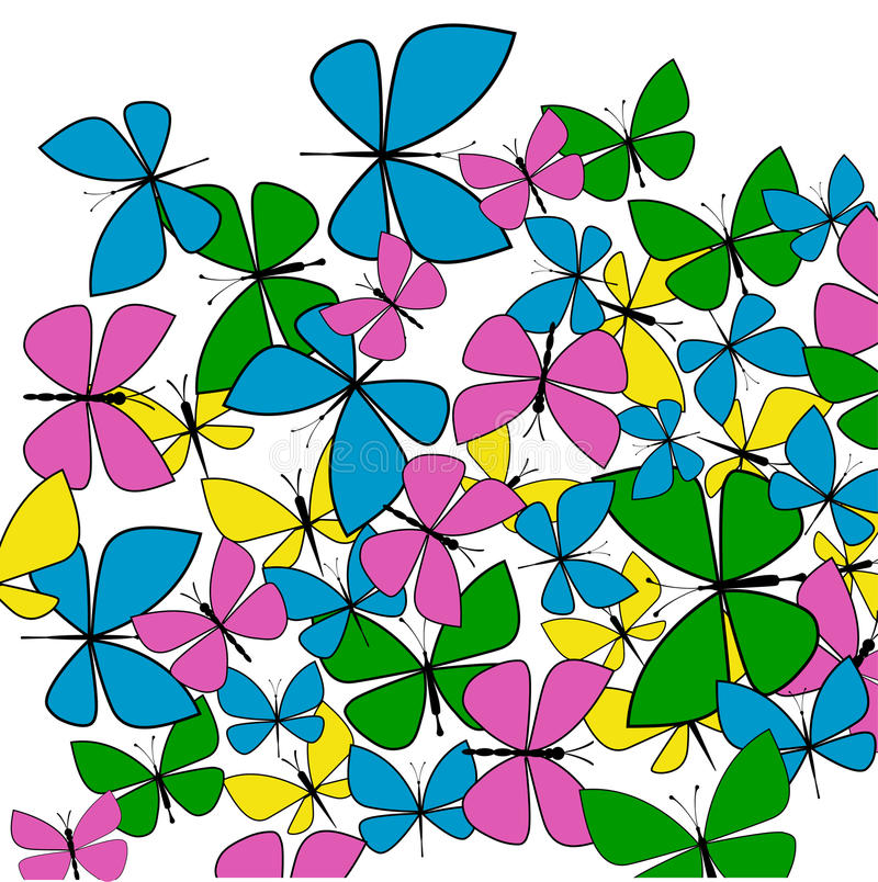 Download Spring Butterflies stock vector. Image of baroque, color - 38749996