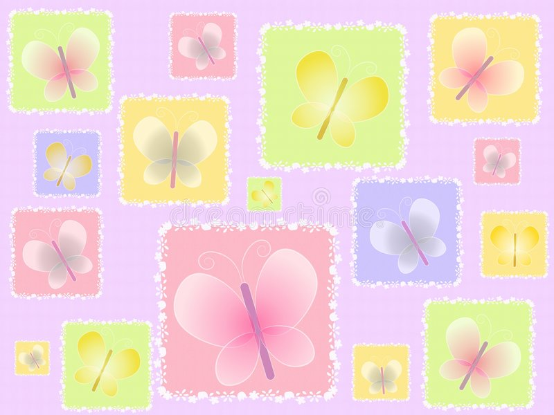 Spring Butterflies Light Background Royalty Free Stock Photo