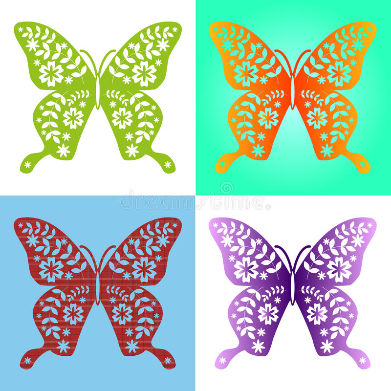 Spring butterfly color composition. Illustration layered for easy manipulation and custom coloring. Vector. Spring butterfly color composition. Vector vector illustration