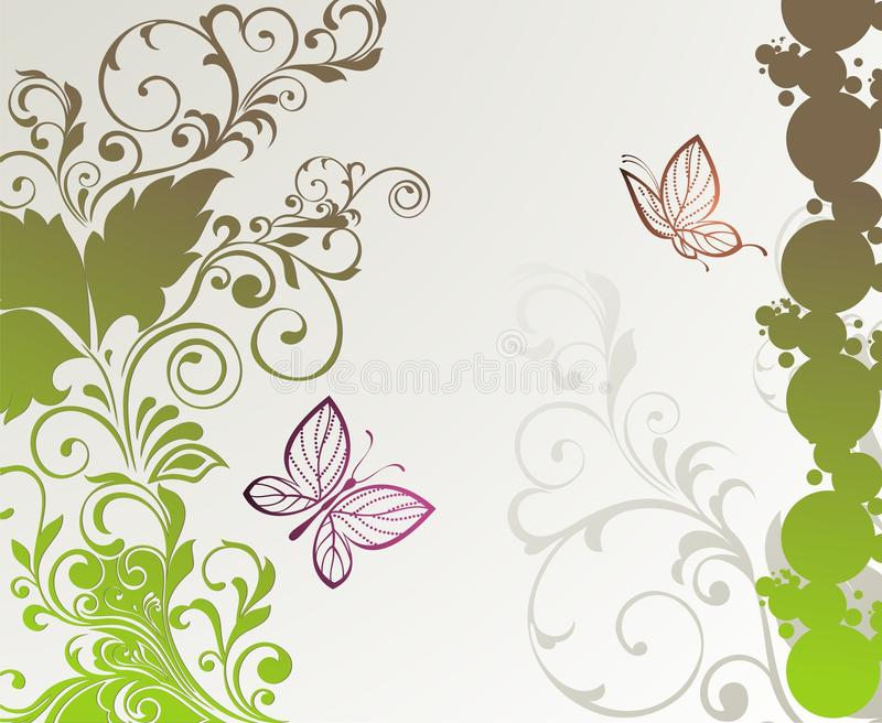 Spring Card  With Butterfly Stock Photo