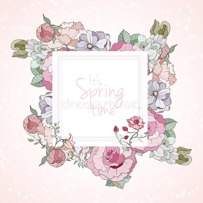 It is Spring card royalty free illustration