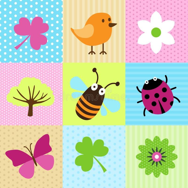 Spring Cartoons royalty free illustration