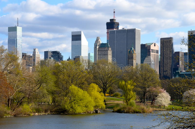 Spring in Central Park, Manhattan, New York. USA royalty free stock photos