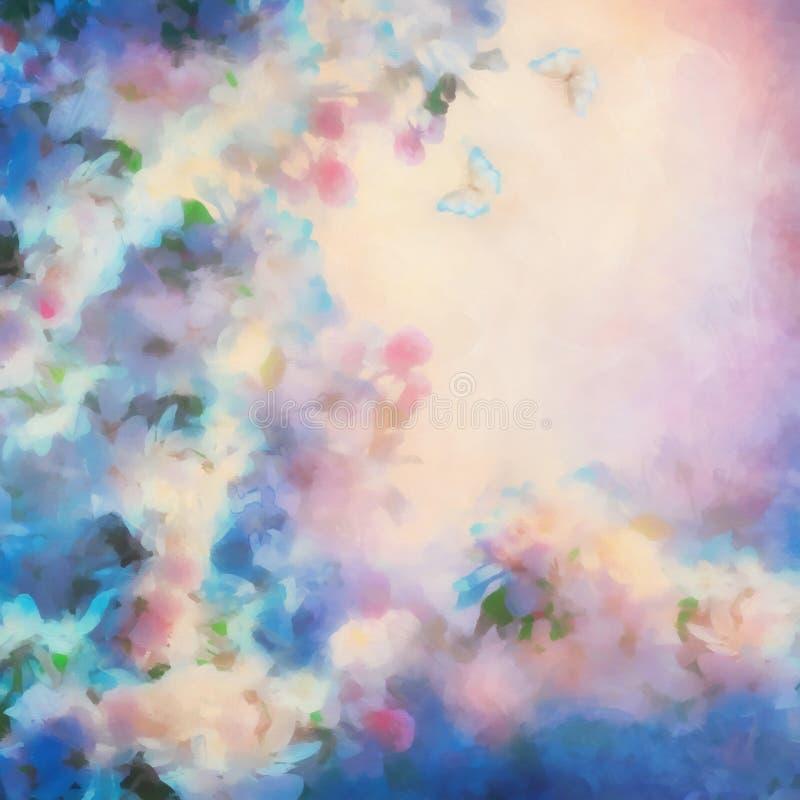 Spring Cherry Blossom royalty free illustration