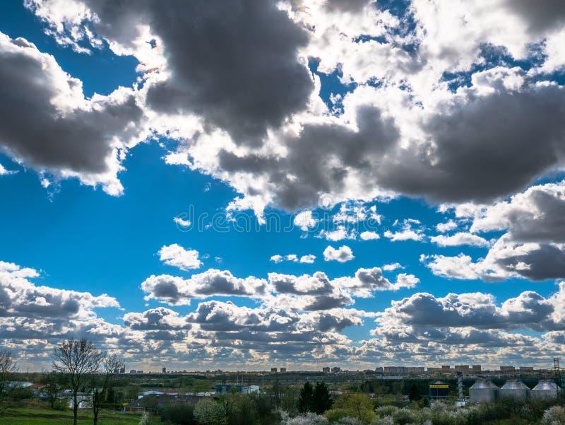 Spring city landscape stock images
