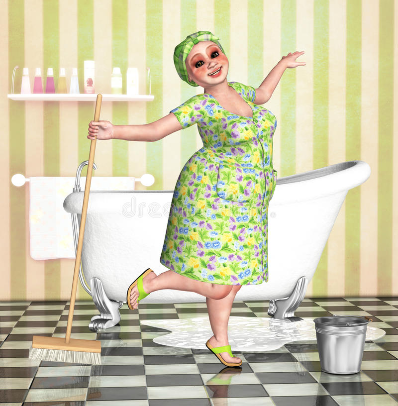 Download Spring cleaning stock illustration. Image of housework - 17934325