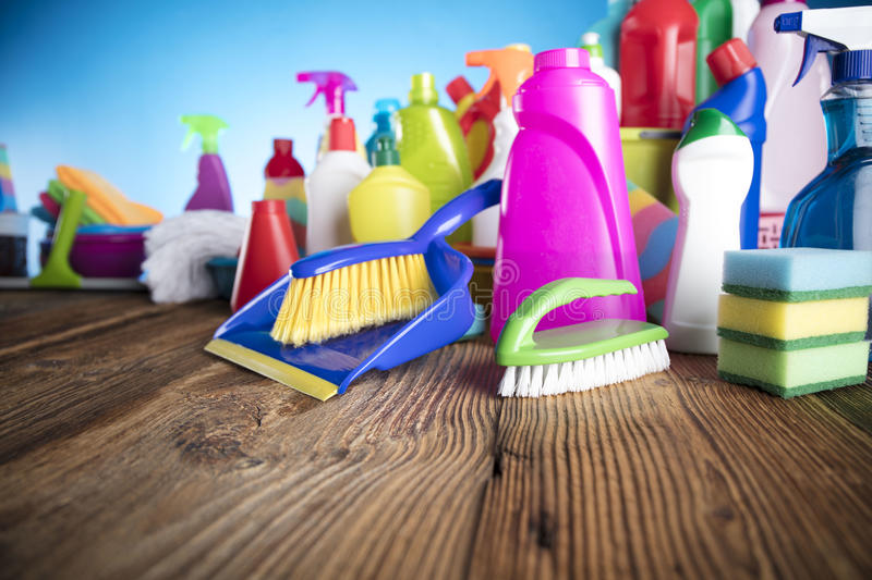 Spring cleaning. royalty free stock photography