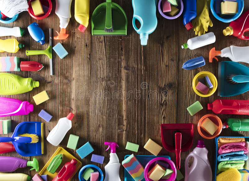 Spring cleaning. royalty free stock image
