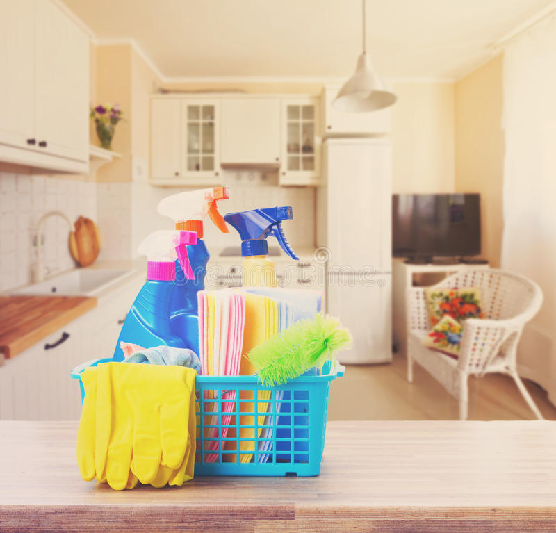 Spring cleaning concept royalty free stock photo