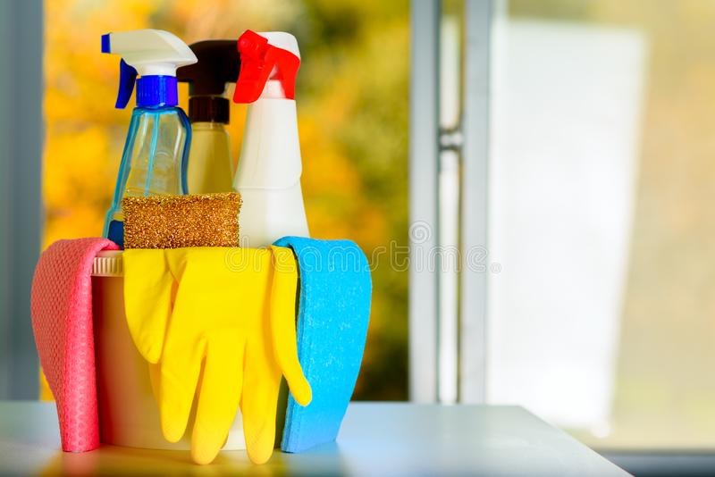 Spring cleaning concept. stock image