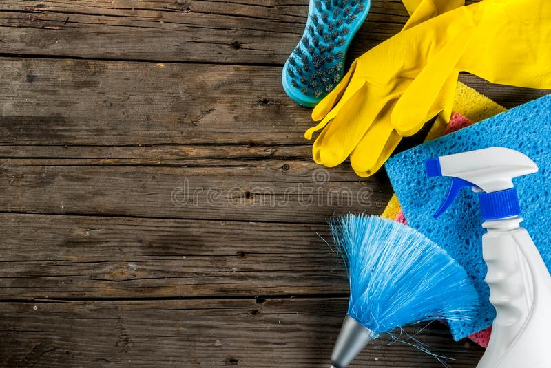 Spring cleaning concept stock photo