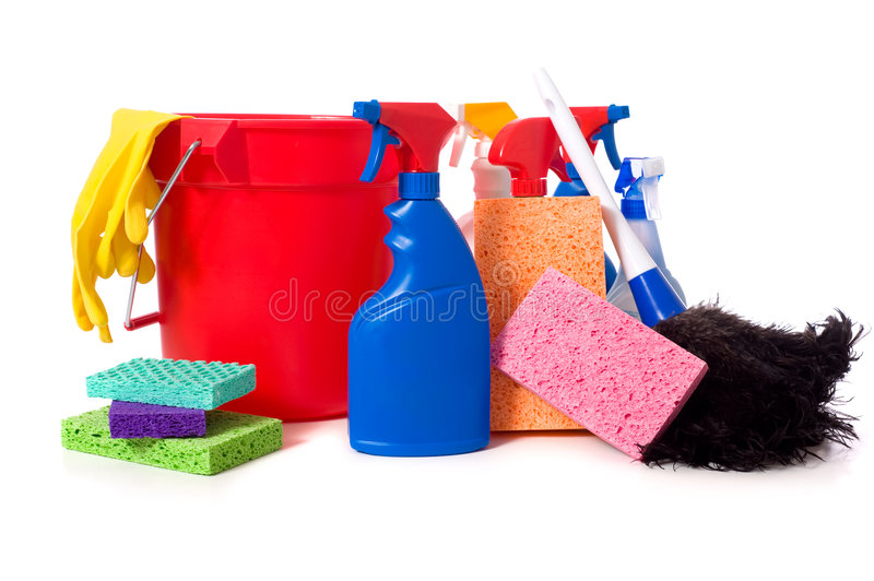 Download Spring Cleaning Supplies stock image. Image of duster - 5114087