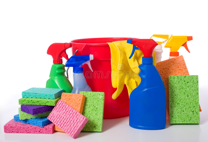 Download Spring Cleaning Supplies stock photo. Image of background - 5124494