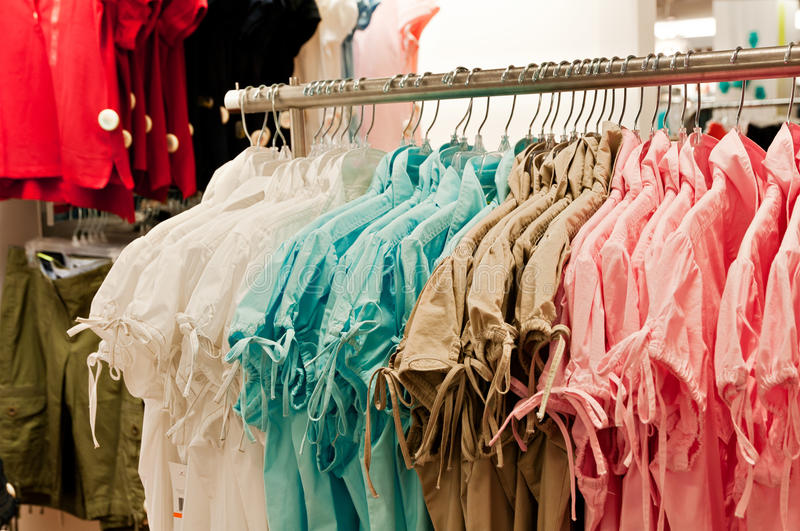 Spring clothes for women on sale stock image